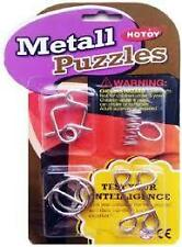 Shopaholic Stainless Steel 4 Metallic Intellectual Puzzles For All Age Groups.