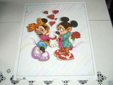 DISNEY MICKEY & MINNIE MOUSE Hearts & Roses 16x20 Poster