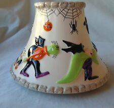 Yankee Candle Ceramic Halloween Shade Jar Topper Raised Creatures Monsters Witch