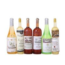 6Pcs Colorful Wine Bottles 1:12 Dollhouse Miniature Kitchen Dining Room Decor