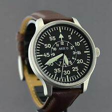 ARISTO PILOT XL 42mm SCHWEIZER ARISTOMATIC AUTOMATIK WERK FLIEGERUHR 3H116