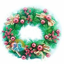 Christmas Wreath Holiday Season Indoor Outdoor Decoration Red