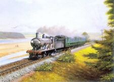 Along the Camel Beautiful Picture Painting Poster Steam Train Railway