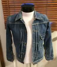 Vintage 1930s 1940s LEVIS Big E 506 XX Type 1 Jean Denim JACKET distressed S Med