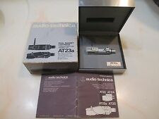 AUDIO TECHNICA AT23A INTEGRATED HEADSHELL, CARTRIDGE AND STYLUS IN DISPLAY CASE
