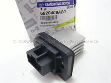 SSANGYONG REXTON 02- GENUINE A/C HEATER BLOWER RESISTOR 6920408A20