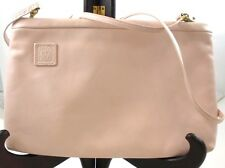 Light Pink Small Leather Handbag Shoulder Bag Anne Klein Lion Logo