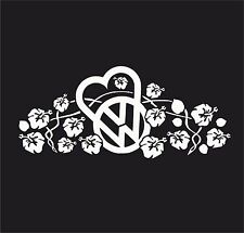 Hibiscus VW flower  Vinyl Decal Sticker EURO JDB DUB VW T5 T4 T3 T2 Jap
