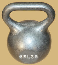 TDS Fitness 65 lb. Kettlebell with Extra Wide Handle for Two Hand Workout