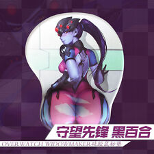 Anime Mice Pad Game Overwatch OW Widowmaker Hip 3D Silicone Mousepad Play Mat