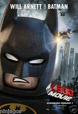 The LEGO Movie POSTER Giveaway Exclusive WILL ARNETT is BATMAN Edition