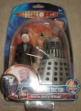 "Third 3rd Doctor Dr Who 5"" figure set NEW SEALED Death to the Daleks Pertwee"