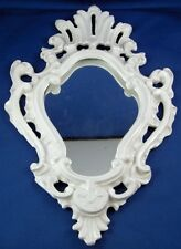 Antique English Fancy Ceramic Frame for Mirror / Painting England Pottery