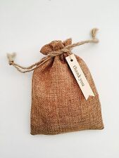 6PCS Medium Vintage Natural Burlap Hessian Bomboniere Bags - 12cm*15cm