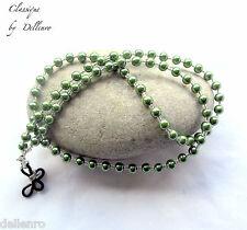 ✫ Classique ✫ Con Cuentas De Cristal Verde Pearl Gafas Collar Gafas Cadena Titular