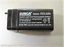 SUNCA 4V 500 mAh SMF Rechargable Battery for Emergency Light/Toy/Mosquito Bat