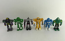 "VTG Robots 2"" Figures PVC Rubber Soma Z-bots Micro Machines Knock Off Lot of 6"