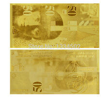 SWITZERLAND FRANCS 50 SCHWEIZER FRANKEN GOLD REPLICA