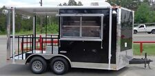 BBQ Concession Trailer 8'x14' Black - Food Smoker Vending
