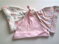 Next Baby Girls 3 Pack Cotton Hats Age 6-12 Months BNWT