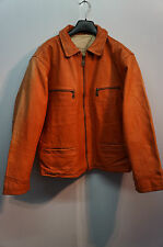 VINTAGE 70'S ABRAMS LEATHER MOTORCYCLE CAFE RACER JACKET SIZE L