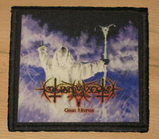 "NOKTURNAL MORTUM ""GOAT HORNS"" silk screen PATCH"