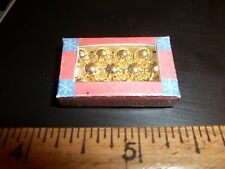 CHRISTMAS TREE ORNAMENTS IN A BOX - DOLL HOUSE MINIATURE
