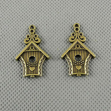 2x A3210 Jewelry Making Pendant Vintage Findings Handmade Charms Love Bird House