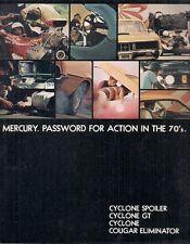 Mercury Cyclone GT Spoiler & Cougar Eliminator 1970 USA Market Sales Brochure