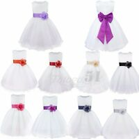 Formal Flower Girl Dress Birthday Wedding Party Bridesmaid Tulle Pageant Dresses