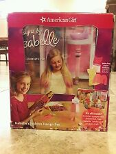 NEW IN BOX AMERICAN GIRL ISABELLE FASHION DESIGN SET KIT PAPER DOLL + 2 BOOKS
