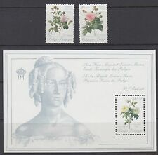 BELGIUM : 1989 Roses for a Queen series 2 pair +M/Sheet SG 2979-80+MS2981 MNH