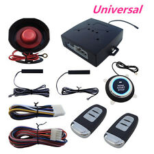 Keyless Entry Car Alarms Security Systems W/Engine Ignition Push Button Starter