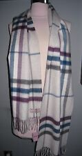 NWT BURBERRY CLASSIC CASHMERE SCARF IN CHECK $435