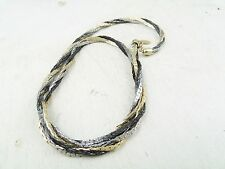 VINTAGE 22ct GOLD PLATED ROPE TWIST MODERNIST ROPE NECKLACE CHAIN