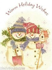 """NEW! HOLIDAY GREETING SNOWMAN XMAS CARD W/ENVELOPES BY """"JOYFULLY YOURS"""""""