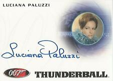 "James Bond 50th Anniversary - A166 Luciana Paluzzi ""Fiona Volpe"" Autograph Card"