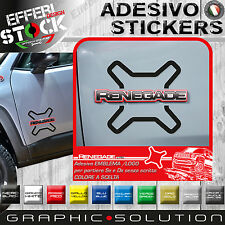 Adesivo / Sticker JEEP RENEGADE LOGO PORTIERE GOALKEEPER SPORT LIMITED SUV
