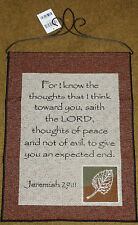 For I Know The Thoughts Saith the Lord Tapestry Bannerette Wall Hanging