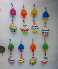 Mini Gumdrop Candy w cupcake,  Icicle Christmas Tree Ornaments