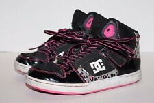 DCSHOECOUSA Black w/Pink Animal Print Hi-Top Youth Skateboarding Shoes Size 4.5