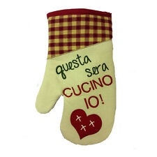 Guanto cucina QUESTA SERA CUCINO IO cotone COUNTRY STYLE