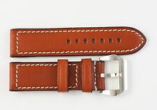 "RIOS1931 Genuine Russia Leather Watch Band COGNAC 24 mm for Panerai ""Firenze"""