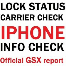 Official iPhone GSX Report Sim Lock Status, Carrier, Find My iPhone, IMEI Check
