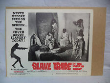 Slave Trade In The World Today Movie Lobby Card 1964 Slavery #6 Be Great Framed