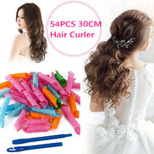 54PCS 30CM Convenient DIY Hair Styling Circle Magic Rollers Perm Curler Tool Set