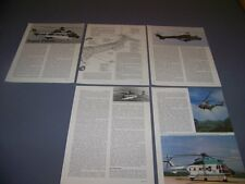 VINTAGE..AEROSPATIALE AS 332 SUPER PUMA..3-VIEWS/SPECS/CUTAWAY..RARE! (158C)