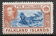 FALKLAND IS 1938 5/- dull blue & yellowish brown * MINT * 1949 sg161c cv£120