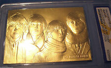 THE BEATLES Gold Card For Sale Contains Over 1/2 Gram of Pure Gold Rock n Roll
