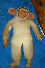 50s 60s Vintage Monkey Doll Plush Old Kids Boys Girls Baby Chimp Chimpanzee Soft